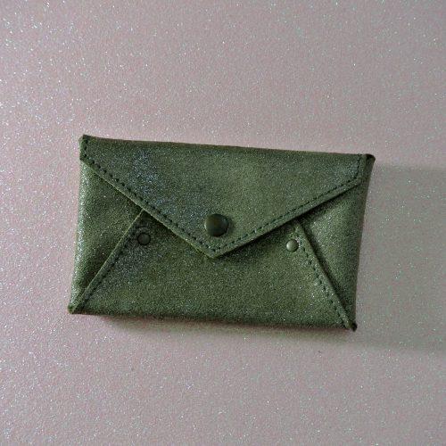 Mini Enveloppe en Cuir Pailleté
