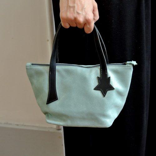 Joli petit sac Copernic en cuir pailleté, en cuir velours, made in France, La Cartablière