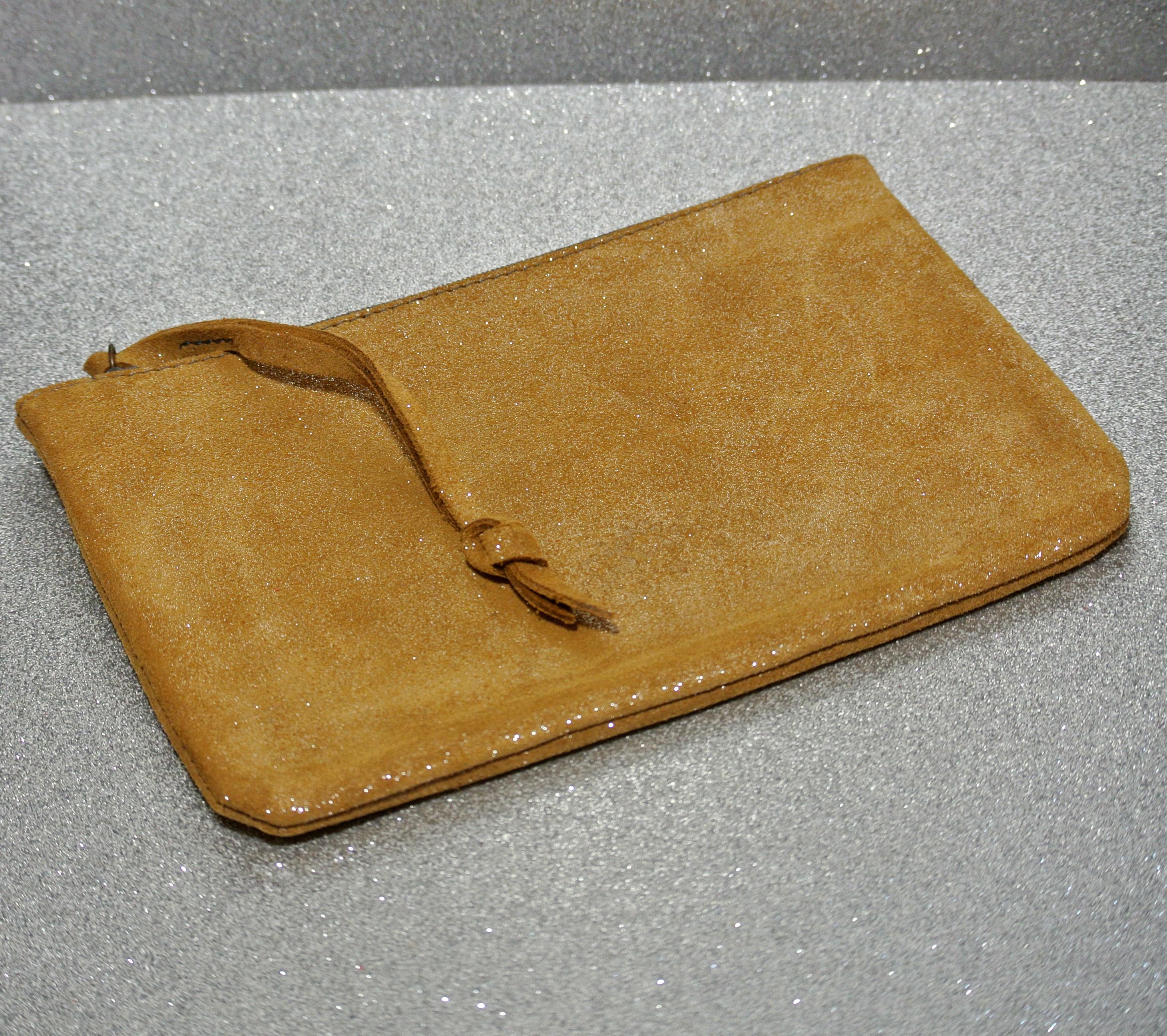 Mini dragonniere en cuir pailleté, petite pochette en cuir, en cuir, en cuir pailleté, made in france, la Cartablière