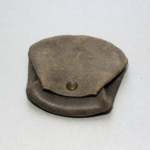 Joli porte monnaie crapaud, pour homme, en cuir rétro, en cuir vintage, made in france, gris anthracite