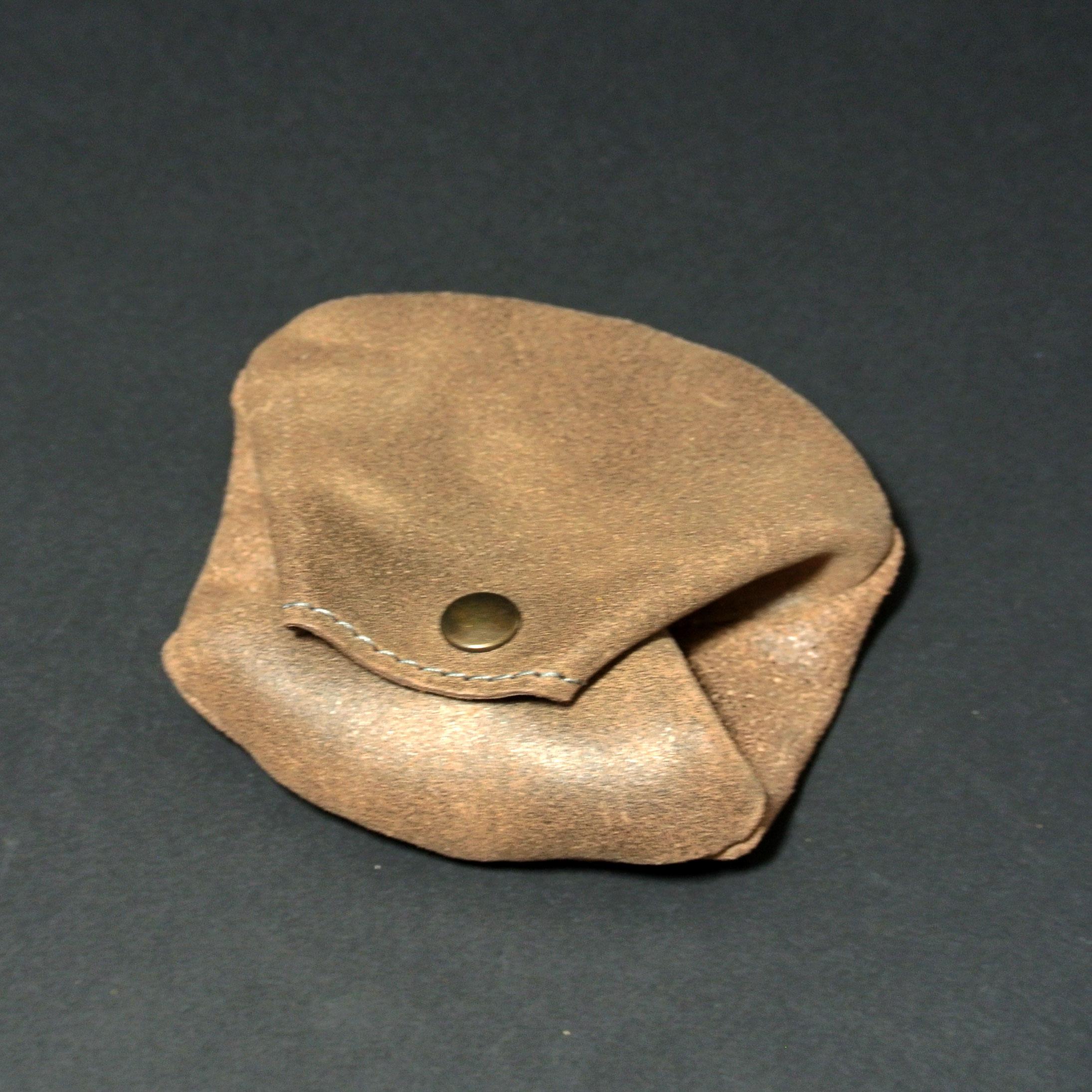 Joli porte monnaie crapaud, pour homme, en cuir rétro, en cuir vintage, made in france, marron chocolat