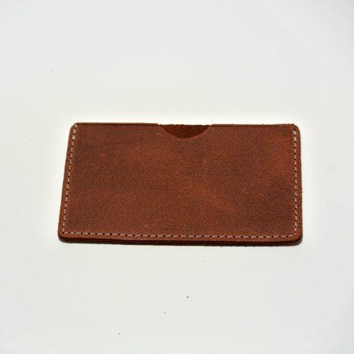 Etui à carte, simple, homme, cuir rétro, cuir vintage, porte-carte, La Cartablière, Made in France