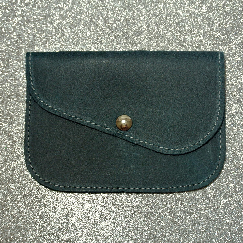 Porte monnaie plutoni, en cuir rétro, en cuir vintage, made in france, la Cartablière