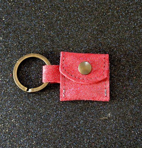 porte clé jetons, en cuir, made in france, la cartabliere