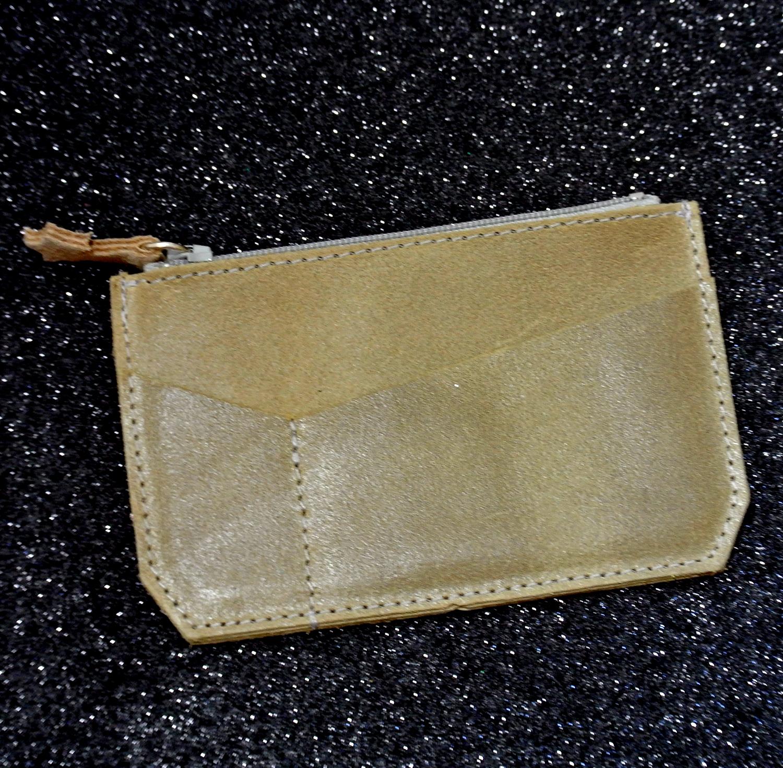 Porte monnaie, en cuir, en cuir rétro, made in France, La Cartablière