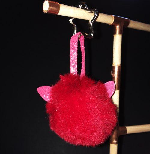 porte clé lapin, oreille en cuir pailleté, made in france, la cartablière