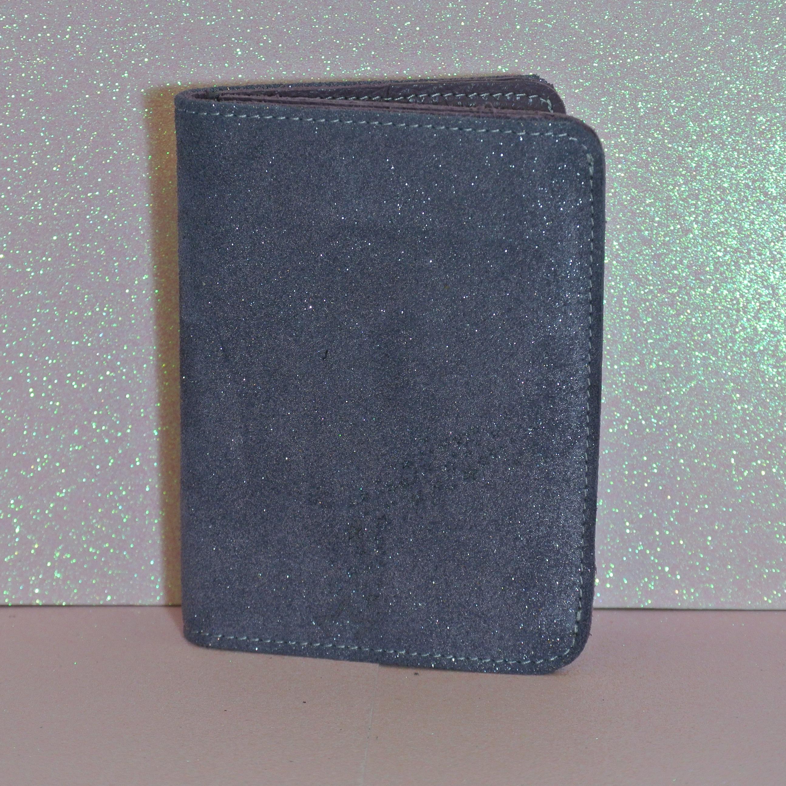portefeuille en cuir, en cuir pailleté, made in france, la cartabliere
