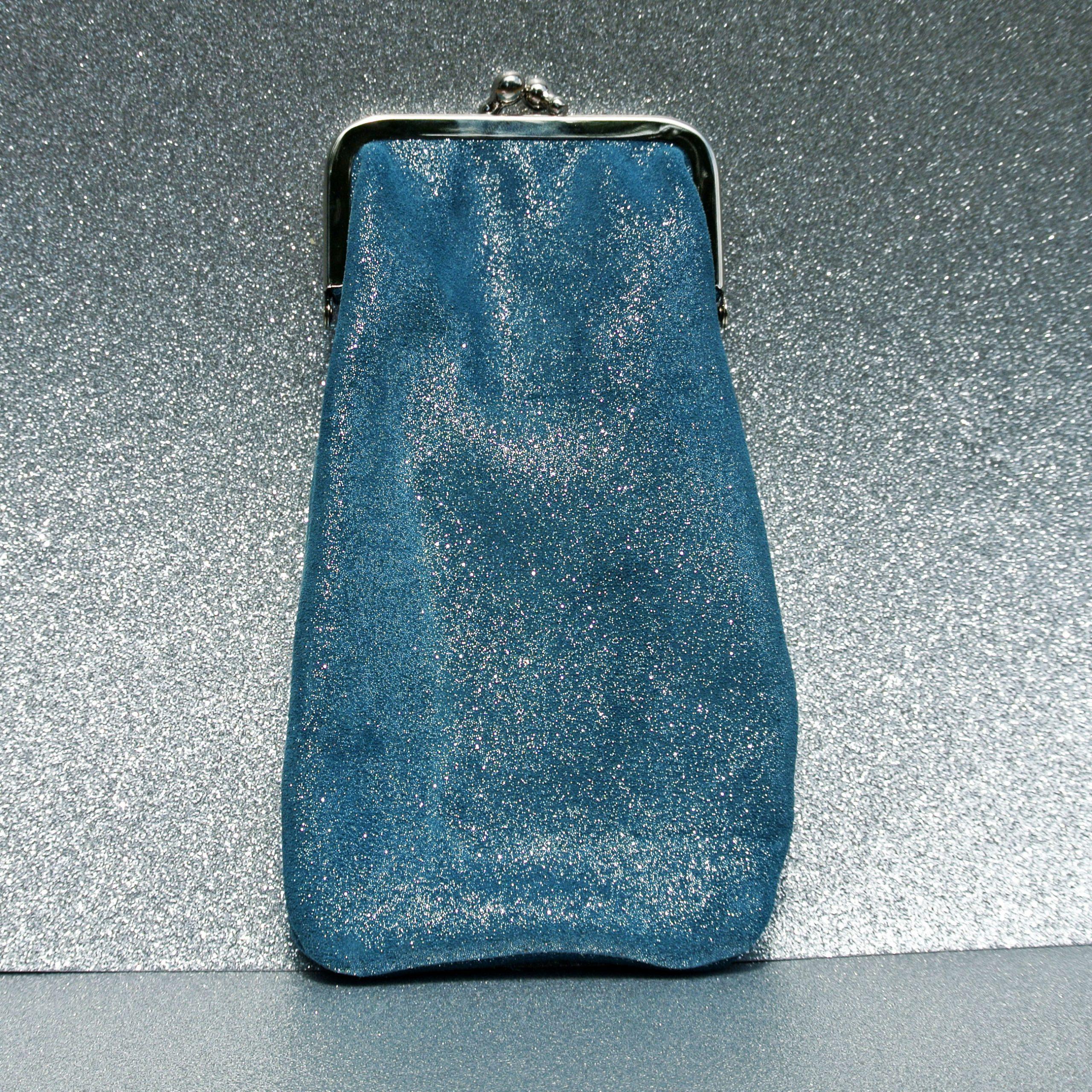 étuiàlunette - bleu sarcelle
