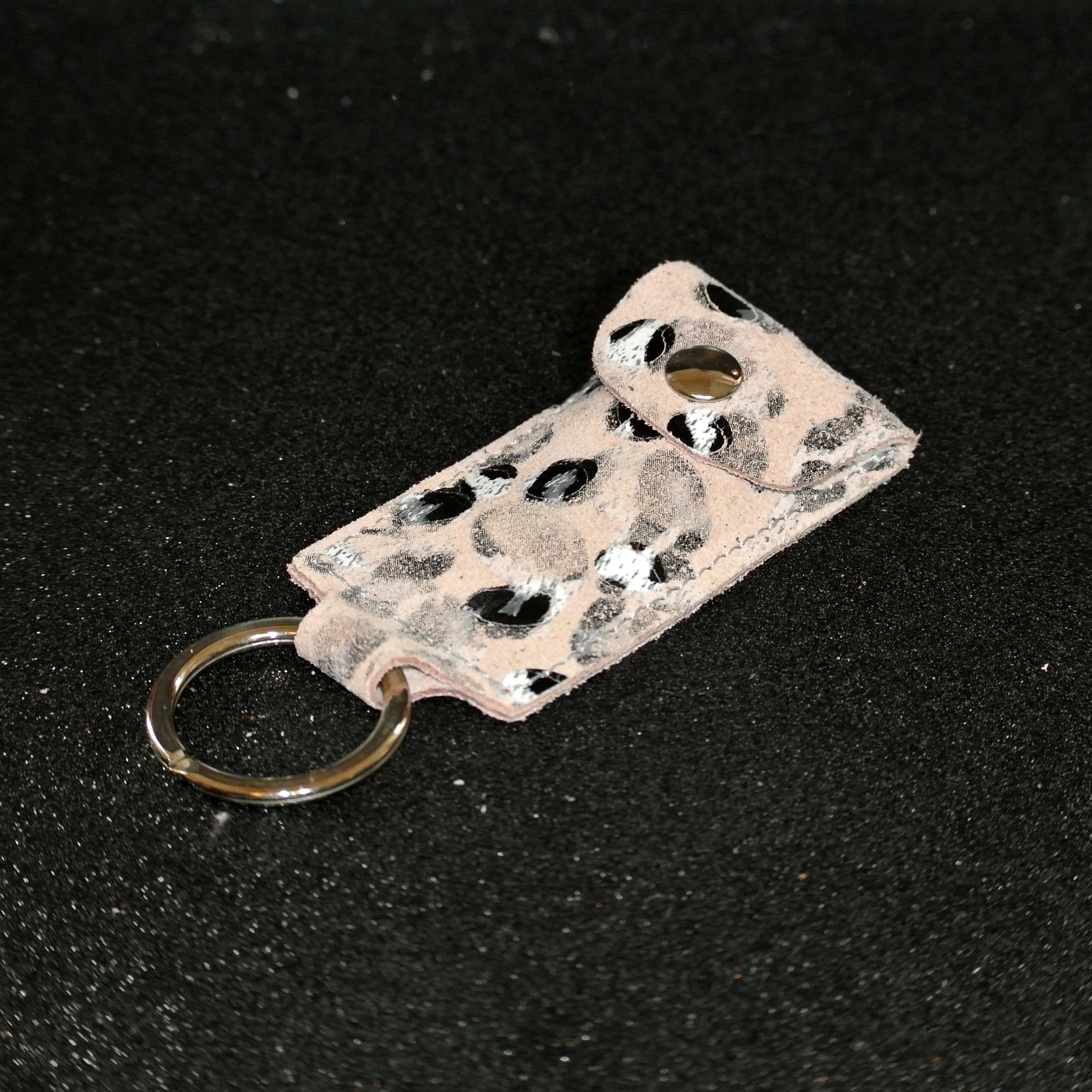 porte-clés usb en cuir plume