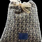 Emballage cadeau réutilisable en tissu Jacquard Bleu