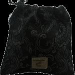 Emballage cadeau réutilisable en tissu Jacquard Noir
